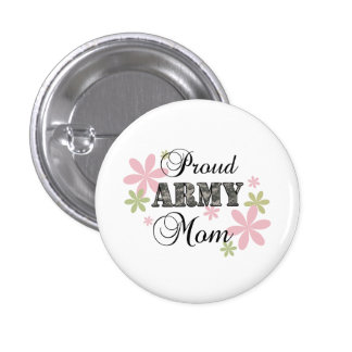 Proud Army Mom [fl c] Pinback Button