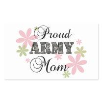 Proud Army Mom [fl c] Rectangular Sticker