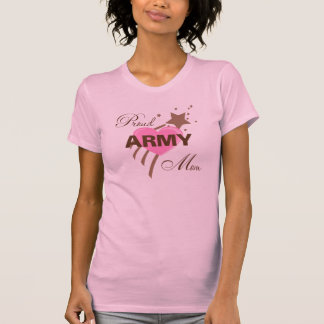 Proud Army Mom Heart T Shirt