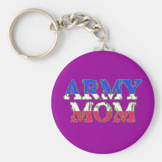 Proud Army Mom Keychains