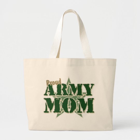 Proud Army Mom Large Tote Bag