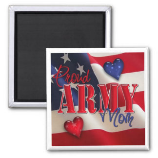 """Proud ARMY Mom"" Magnet"