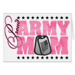 Proud Army Mom Pink Camo Greeting Cards