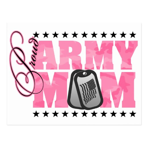 Proud Army Mom Pink Camo Postcards