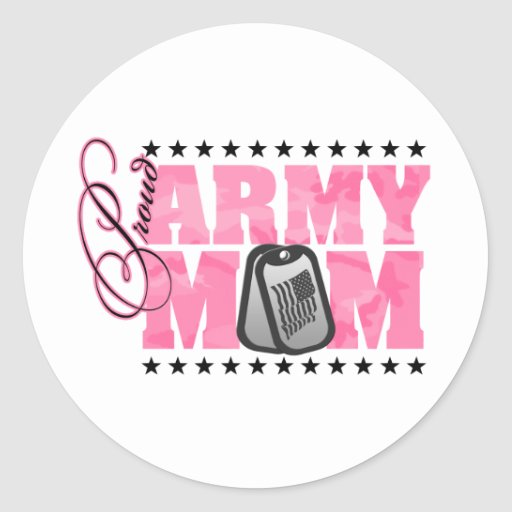 Proud Army Mom Pink Camo Sticker