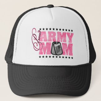 Proud Army Mom Pink Camo Trucker Hat