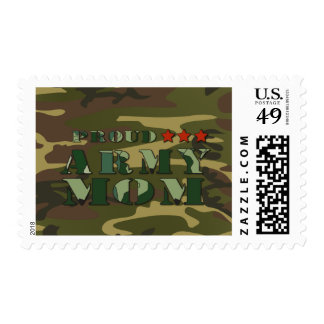 Proud Army Mom Postage Stamp