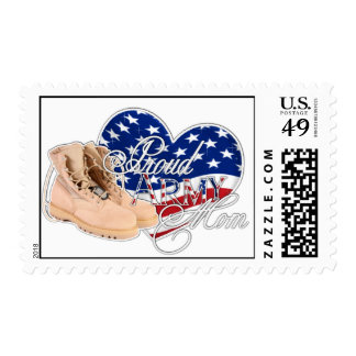 Proud Army Mom Postage Stamps