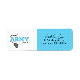 Proud Army  Mom Return Address Label