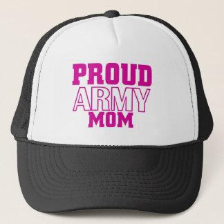 Proud army mom trucker hat