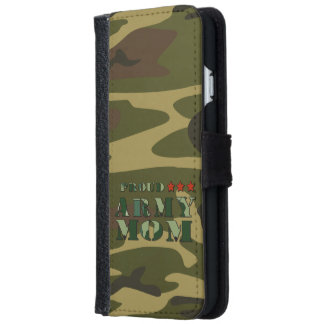 Proud Army Mom Wallet Phone Case For iPhone 6/6s