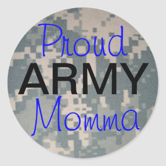 Proud Army Momma Classic Round Sticker
