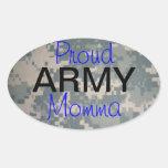 Proud Army Momma (oval) Oval Sticker