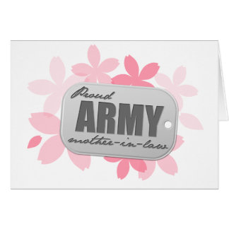 Proud Army Mother-in-law Flowers Card
