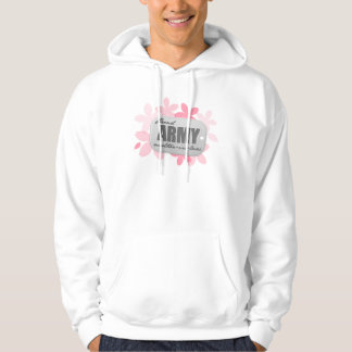 Proud Army Mother-in-law Flowers Hoodie