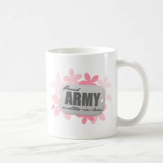 Proud Army Mother-in-law Flowers Mugs