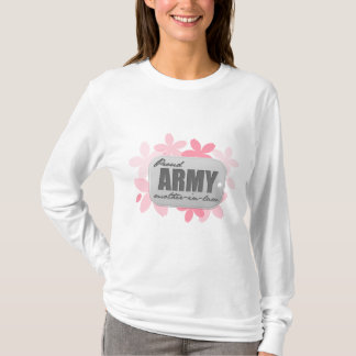 Proud Army Mother-in-law Flowers T-Shirt