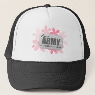 Proud Army Mother-in-law Flowers Trucker Hat