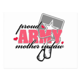 Proud Army Mother in law Postcard