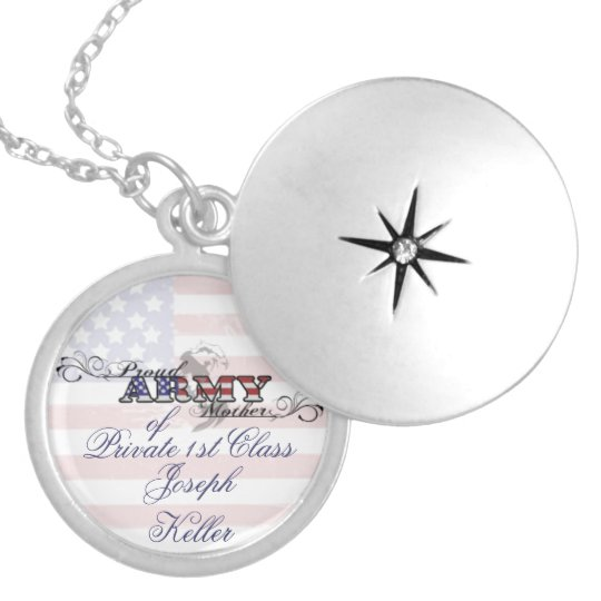 Proud Army Mother Patriotic Necklace