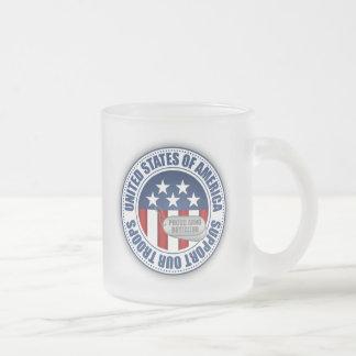 Proud Army National Guard Boyfriend Frosted Glass Coffee Mug