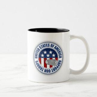 Proud Army National Guard Boyfriend Two-Tone Coffee Mug