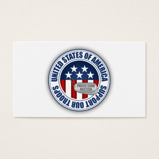 Proud Army National Guard Brother Business Card