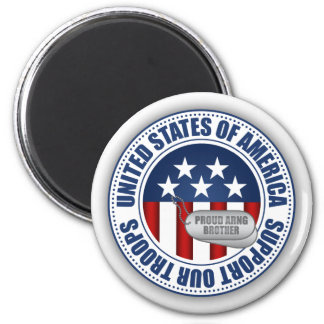 Proud Army National Guard Brother 2 Inch Round Magnet