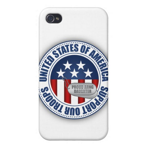 Proud Army National Guard Daughter iPhone 4 Cover