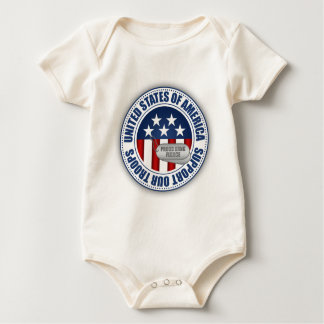 Proud Army National Guard Fiance Baby Bodysuit