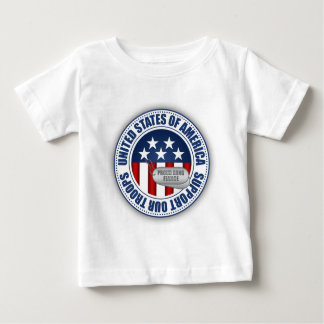 Proud Army National Guard Fiance Baby T-Shirt
