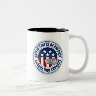 Proud Army National Guard Fiance Two-Tone Coffee Mug