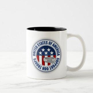 Proud Army National Guard Sister Two-Tone Coffee Mug