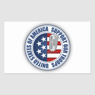 Proud Army National Guard Uncle Rectangular Sticker