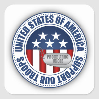 Proud Army National Guard Uncle Square Sticker