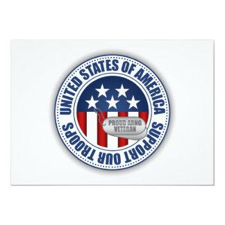 Proud Army National Guard Veteran Card