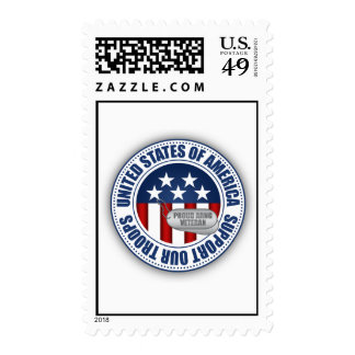 Proud Army National Guard Veteran Postage Stamp