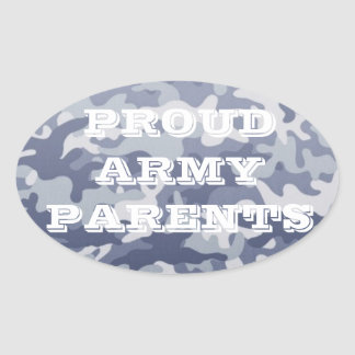 Proud Army Parents Oval Car Sticker