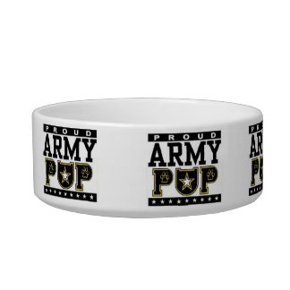 Proud Army Pup Food/Water Bowl
