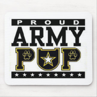 Proud Army Pup Mouse Pad