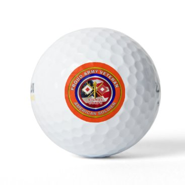 Proud Army Signal Corps Veteran Golf Balls