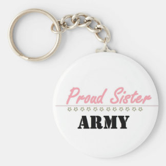 proud army sister (1) basic round button keychain