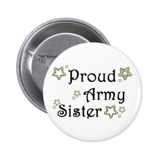 proud army sister 2 inch round button