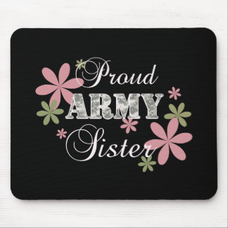 Proud Army Sister [fl c] Mouse Pad
