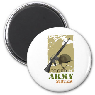 Proud Army Sister Fridge Magnet