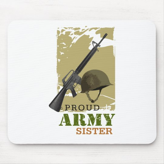 Proud Army Sister Mouse Pad