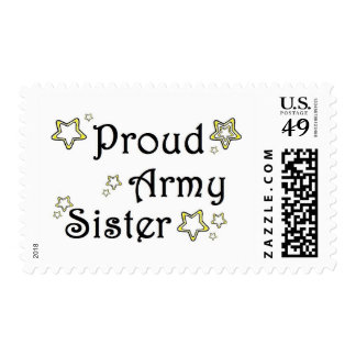 proud army sister postage