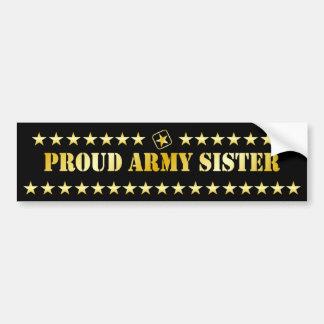 Proud Army Sister Stars Car Bumper Sticker