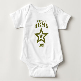 Proud Army Son Baby Bodysuit