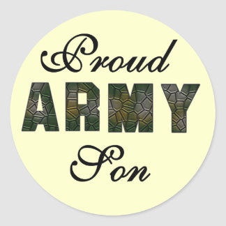 Proud Army Son Tshirts and Gifts Classic Round Sticker